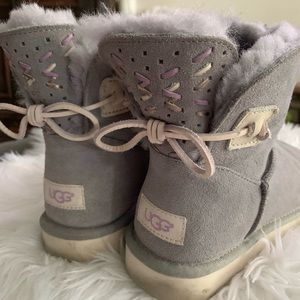 Lavender gray UGG boots